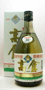 【楽天市場】高倉 黒糖焼酎30度 720ml【鹿児島】奄美大島酒造(株):e酒どっと呑む。