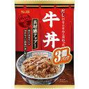 熟食, 食品材料 - どんぶり党 牛丼360g(3個パック)【レトルト/丼/SB/S&B/エスビー/楽天/通販】【05P09Jul16】