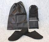【⇒1,260】コンパクトなお受験スリッパ靴入れ用の巾着袋付き