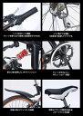マウンテンバイク・MTB 折りたたみ自転車 (折り畳み自転車) 26インチ (3色) マイパラス シマノ製6段ギア 前後Wサス 【送料無料】 3カラー M-670 ☆