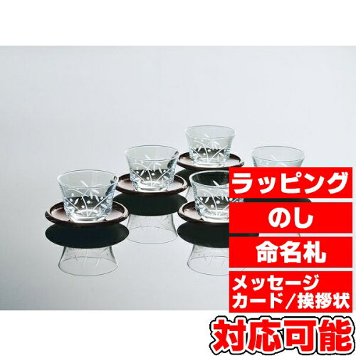 絵ごよみ切子揃 冷茶セット (G070-T246) [キャンセル・変更・返品不可]