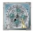 【リズム時計 キャラクタークロック からくり置時計/アナと雪の女王 03白(白) 4RH784MA03】※発送目安:2週間 fs04gm、【RCP】