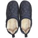Boa slippers(ボアスリッパ) ダウンスリッパ ネイビー Lサイズ(25-27cm) 72178 [ラッピング不可][代引不可][同梱不可]