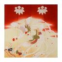 ショッピングのれん トレシー 加賀のお国染めシリーズ 花嫁のれん柄 19×19cm A1919P-ERIHANA P545 桐に鳳凰