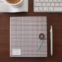 クレイド kleid / ストリングタイ ノートブック String-tie notebook リングノート(無地)ブラウンギンガム/ライトブルー(No.887...
