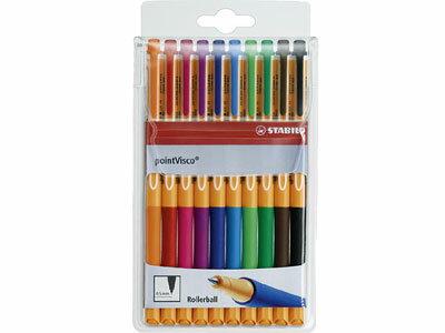 スタビロSTABILO/pointViscoポイントビスコ水性ゲルローラーボールペン(10色セット)