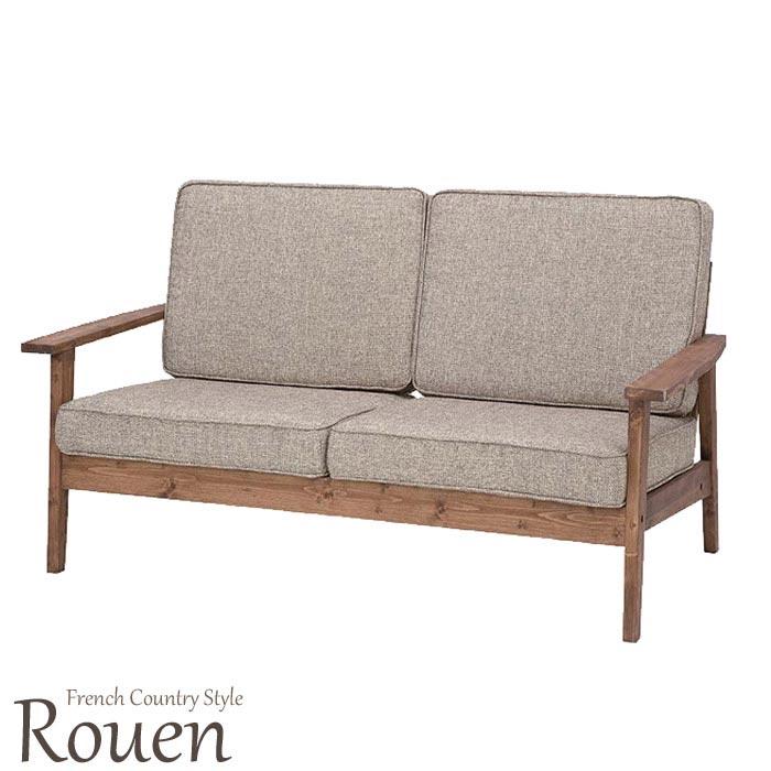 《東谷》Rouenルーアン 2人掛けソファ 北欧 木製 人気 おしゃれ おすすめ モダン シンプル ナチュラル 西海岸 リビング Cafe カフェ 一人暮らし 二人掛けソファ 2p 2人用 sofa ソファー フロアソファ ローソファ ファブリック 木製 天然木 パイン オイル仕上げ CFS-846