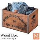 《東谷/LF》ウッドボックスM収納ボックス 木製 収納カゴ 衣装箱 レトロ ヴィンテージ インテリア アンティーク 天然木 用具入れ 工具入れ コンパクト シンプル 雑貨入れ lfs-477