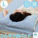 《セルタン》ひんやり枕パッド Lサイズ 450×550mm抗菌消臭 冷感 接触冷感 ひんやり 夏用寝具 冷却マット 冷感寝具 枕カバー クール枕パッド 涼感寝具 b96-l_pillow-pad 10264-001