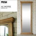 《MOSH》モッシュ アルモア アンティーク スタンドミラー 60×160cm オールドエルム 古材 ビンテージ加工 OLD Furniture 什器 ストア ディプレイ 木製 鏡 姿見 全身鏡  mirror 家具 GART インダストリアル ガルト almore-mirror-600