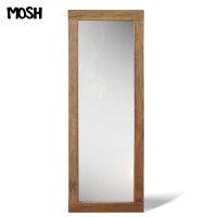 《MOSH》モッシュ アル アンティーク ミラー 60×160cm オールドエルム 古材 ビンテージ加工 OLD Furniture 什器 ストア ディプレイ 木製 アイアン IRON アンティーク アルミラー 鏡 姿見 GART インダストリアル ガルト al-mirror-60-160