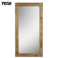 【海外製/組立不要】《MOSH》モッシュ アル アンティーク ミラー 90×180cm オールドエルム 古材 ビンテージ加工 OLD Furniture 什器 木製 アイアン IRON アルミラー 鏡 姿見 mirror 家具 GART ガルト インダストリアル al-mirror-90-180