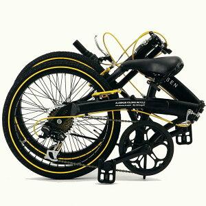 《WACHSEN》ヴァクセン20インチアルミ折りたたみ自転車6段変速Angriffアングリフ自転車コンパクトスタイリッシュサイクリングアウトドアシマノ6段変速BA-100阪和ba-100
