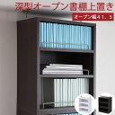 [組立式家具] 送料無料(一部地域を除く) 代引不可 ◎本体上の空間を有効活用。1cmピッチで可動棚を設置できるから、無駄なく収納。文庫本から大きな辞書まで余裕の収納。
