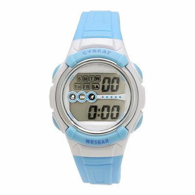 [SCY09-BL] CYBEAT 5気圧防水ELバックライト デジタルウォッチ ブルー [腕時計 スポーツ アウトドア] (ネコポス不可・ゆうパケット不可)