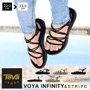 テバ Teva ボヤ インフィニティ メタリック サンダル レディースVOYA INFINITY METALIC コード ストラップ スポーツサンダルブラック ゴールド シルバー 1019622 1097852