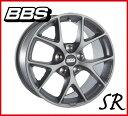 【送料無料】【ホイール1枚】BBS SR(エスアール) 17×7.5 PCD108/5H +45 ボア径:70(専用) カラー:サテン・ヒマラヤグレー