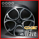 【アルファロメオ・フィアット】【ホイール1枚】 OZ XLINE WAVE 17×7.0J PCD98/4H +37 カラー:マットブラックポリッシュ [ウェーブ]