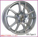 【ホイール1枚】【輸入車用】APS Type V 16×6.5 PCD108/4H +45 ボア径:63.4(専用)カラー:シルバー[エーピーエス タイプ:V]★フォード