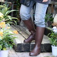 【冬セール】【DM便不可】ナチュラルラバーブーツ(天然ゴム)/エスイズ/女性用ガーデンブーツ・カメリア