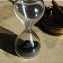 誤差が少ない砂鉄を使用した「職人の手作り砂時計(3分計)スタイリッシュ(自立型)」金子硝子