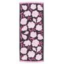 フェイスタオル アマンダ2 バラ柄ジャガード織 ピンク 33×79cm 日本製
