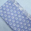 ウォーキングガーゼタオル UVケア 小紋柄 ブルー系 21×120cm