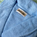 バスローブ ブルー フリーサイズ