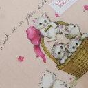 ハンカチ レディース ホールマーク ネコ柄 あなたに幸運が微笑みますように ピンク(2018秋冬/50×50cm)
