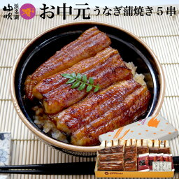 <strong>お中元</strong>ギフト【<strong>うなぎ</strong>専門店 浜名湖山吹】冷蔵でお届け! 送料無料 老舗デパ地下の国産<strong>うなぎ</strong>の串蒲焼き5串