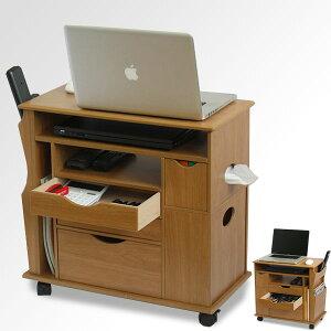PCテーブルサイドテーブルリビング快適ワゴンナイトテーブルコーヒーテーブルキャスター付きで移動楽々高さ57.5cm木製ベッドワゴンベッドサイド収納完成品ソファサイドソファー★★nis
