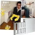 【送料無料】狭いトイレの薄型トイレラック スリム スライド型(おしゃれ トイレ収納棚 オシャレ トイレ収納 トイレットペーパー ストッカー 収納 ケース トイレ ラック 棚 スライド 引き戸 白 ホワイト 家具 収納家具) 02P07Feb16