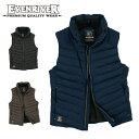 【イーブンリバー】【EVENRIVER】RSX-3005プレミアムリップクロスベスト 軽量 防寒 作業服 メンズ