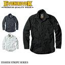 【イーブンリバー】【EVENRIVER】US-1106フィッシャーストライプシャツ 長袖