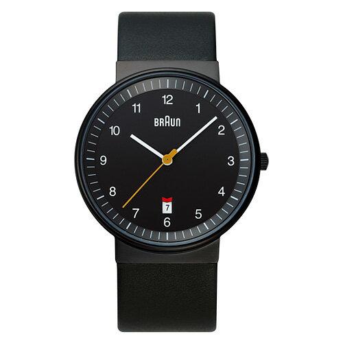 BRAUN ( ブラウン )「 Watch BNH0032 」レザーバンド / ブラック【送料無料】【P01】【flash】 BRAUN ( ブラウン )正規販売代理店