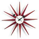 【ポイント10倍!】Vitra(ヴィトラ)「Sunburst Clock (サンバースト クロック)」レッド