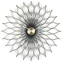 【簡単エントリーでポイント最大10倍!(2/15 10:00〜2/22 9:59)】Vitra( ヴィトラ )「 Sunflower Clock ( サンフラワー クロック )」ブラックアッシュ/ブラス【送料無料】