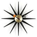 【ポイント10倍!】Vitra(ヴィトラ)掛時計 Sunburst Clock(サンバースト クロック)ブラック/ブラス