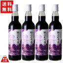 【送料無料】 100%ぶどう液 赤 550ml 4本セット ぶどうジュース ベーリーA コンコード アルプスワイン