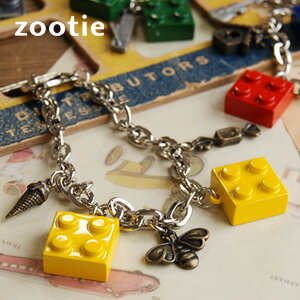 The special block bracelet which performed popular gnu motif and collaboration! Mantell chain breath /fs3gm ◆ Zootie (zoo tea) of the toy motif X fairy tale motif which is kitschy in the accessories ♪ pop of adult who does not forget a sense of fun: Bloc