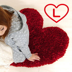 Your bathroom or kitchen with this bath mat one cute! Red heart-shaped bath mat is ideal for interior rooms! The backside using hygroscopic material so superior to the practical jute material bath mat ◆ LOVE heart bass Matt [L]