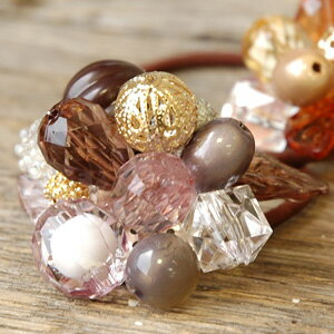 With plenty of glitter cut a beautiful presence...! Clear Crystal beads and tasteful color Lady ◆ デコレーションシャイニーカットポニー