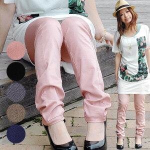 Matt has beautiful glossy adult サテンスパッツ フェミニンコーデ perfect! beauty leg スリムカラー pants on it feeling edgy stretch ALL season success of ◆ Zootie: スタイリッシュサテンレギンス