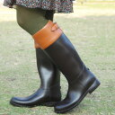 ●送料無料●雨の日だけじゃもったいない!一見普通のロングブーツのようなオシャレな防水ジョッキーブーツ!バックのベルトやステッチがオシャレポイントの雨の日も楽しくお出かけできちゃうツートンカラーの長靴◆ツートンジョッキーレインブーツ