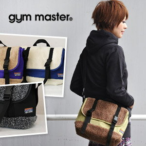 カラフルアウトドアショルダー bag a cute fluffy boa switching ♪ fluffy boa unisex unisex Pochette! And different material MIX / casual / men's / women's / mountain girl ◆ gym master ( jimmaster ): BOA switching mini-Messenger bag