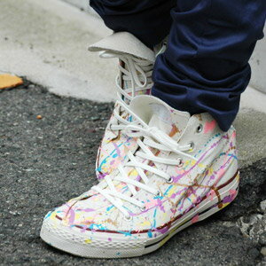 ●●Obtain sneakers only for only you in the world! Item ◆ MCW ☆ STAR where the higher frequency elimination sneakers that the colorful paint processing that came up from MCWSTAR of the M sea W original sneakers brand was considered to be it are individual: Colorful paint sneakers