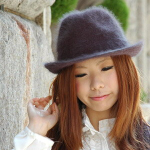 New color addition! I add a sense of the seasons to a girly in a soft felt hat hat of the soft and fluffy fur such as Angola! Soft felt hat hat light soft standard soft cap ◆ which it is soft, and is not kept in little fashion of a feeling of clamping