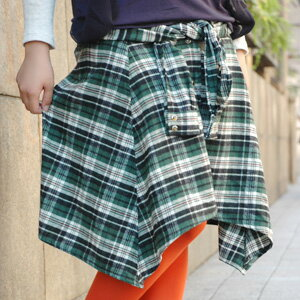 I seem to totally bind a waist with a shirt! So that the button which lined up in a design and the front such as the sleeve as for the skirt such as the checked flannel shirt which is the men's like that appeared from the zoo tea that a hem is done to a