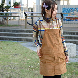 Thick corduroy-like material is an adult-like, and the jumper that length adjustment to be able to mix-and-match is possible comes up than a popular brand double closet! Because excellent at affinity with any item, folklore-style もきれいめ-style is thing ◆ w closet of the hand: ガールズマルシェサロペット