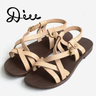 ペタンコサンダル of standard form using the real cowhide! Craft sandals ◆ Diu (ディウ) with full of the warmth that is handmade as for the leather sandals which are loved for many years simply because it is simple: Front cloth strap leather sandals